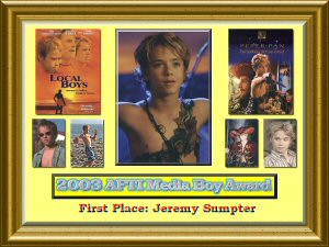 Jeremy Sumpter First Place Award