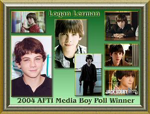 Logan Lerman First Place Award