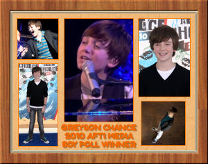 Greyson Chance First Place Award